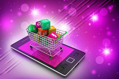 Internet and Online Shopping Concept Royalty Free Stock Photos