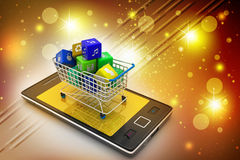 Internet and Online Shopping Concept Stock Photos