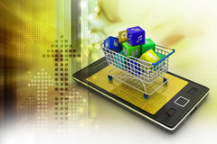 Internet and Online Shopping Concept Royalty Free Stock Images