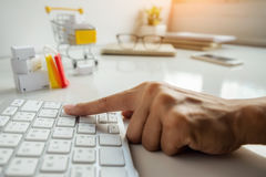 Internet online shopping concept Stock Photos