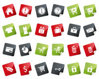 Internet and Online Shopping Icon Set. Tag and Lab Stock Images