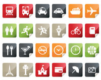 Internet and Online Shopping Icon Set. Tag and Lab Royalty Free Stock Image