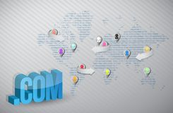 Internet online social media map concept Royalty Free Stock Photo