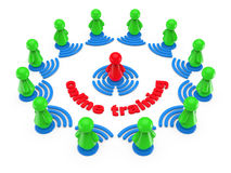 Internet online training concept. Royalty Free Stock Photos
