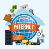 Internet-ontwerp Stock Foto