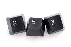 Internet ou sexo do cyber Fotografia de Stock