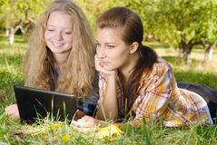 Internet outdoors Stock Image