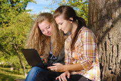 Internet outdoors Royalty Free Stock Image