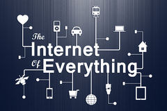 Internet of overything concept. When smart things everywhere are connected together, we will be able to do more and be more. This is the Internet of Everything ( Royalty Free Stock Images
