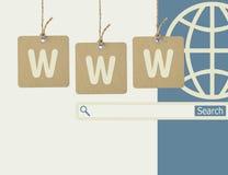 Internet på linjen shopping och www som söker begrepp Royaltyfri Fotografi