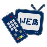 Internet på tv:n Arkivfoton