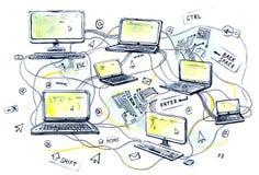 Internet vector illustration