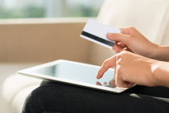 Internet payment Stock Images
