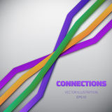 Internet People Connection Lines vector background Stock Image