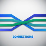 Internet People Connection Lines vector background Stock Photography