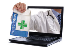 Internet pharmacy Stock Photo