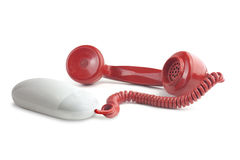 Internet phone calls. Photoshop high resolution visual to illustrate the idea of internet phone calls or VOIP, Voice over internet protocol stock image