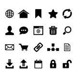 Internet-Pictogram Stock Afbeelding