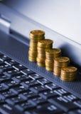 internet pieniądze Zdjęcia Stock