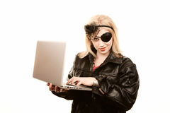 Internet Pirate Stock Photo