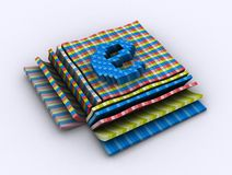 Internet Pixel. There is a box pixel art that forming letter E Royalty Free Stock Photos