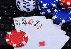 Internet poker Royalty Free Stock Images