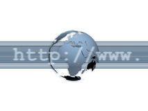Internet/por todo el mundo comunicación Foto de archivo