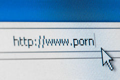 Internet porn concept Royalty Free Stock Images