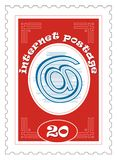 Internet postage stamp Royalty Free Stock Images