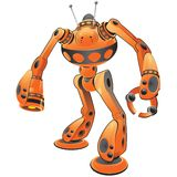 Internet power search robot. Graphic. Part of a series for concepts such as 'security' 'search bots' 'firewalls' 'RSS Royalty Free Stock Photo