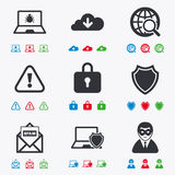 Internet privacy icons. Cyber crime signs Stock Photo