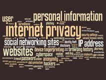 Internet privacy Royalty Free Stock Photography