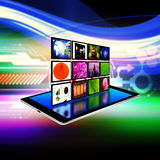 Internet production technology concept on tablet ,tablet  illus Royalty Free Stock Photos