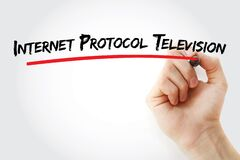 Internet protocol television text with marker