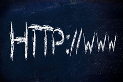 Internet protocols, http://www writing. Http://www as protocol of internet Royalty Free Stock Photography