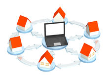 Internet provider. Conceptual 3d image - internet provider stock illustration