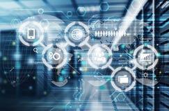 Internet provider. Network innovation hardware business server lan royalty free illustration