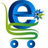Internet purchasing logo Stock Photography