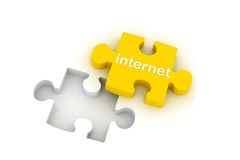 Internet puzzle Stock Images