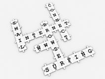 Internet - Puzzle Crossword game Stock Photo