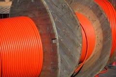 Internet rápido de rolamento para fora. Acesso de faixa larga através da fibra. Imagens de Stock Royalty Free