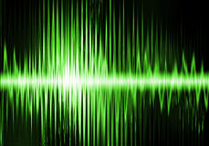 Internet radio. Electronic radio waves in green light Royalty Free Stock Photos