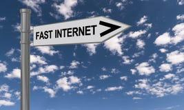 Internet rapide photos stock