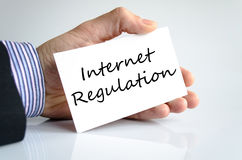 Internet regulation text concept. Isolated over white background Stock Images