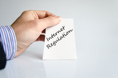 Internet regulation text concept. Isolated over white background Stock Photo