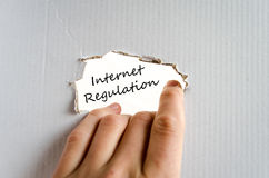 Internet regulation text concept. Isolated over white background Stock Photography