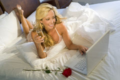 Internet Romance Royalty Free Stock Images