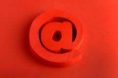 Internet rouge à l'icône Photos libres de droits