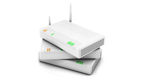 Internet routers Royalty Free Stock Image