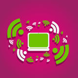 Internet rss wifi concept Royalty Free Stock Image